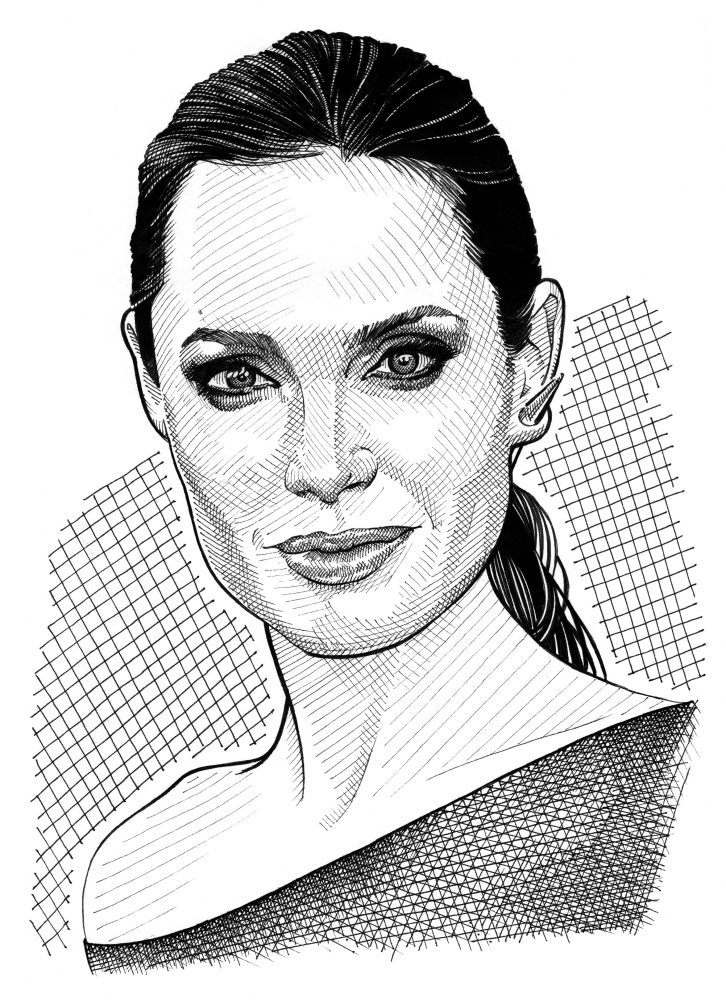 Angelina Jolie by Stefanosart